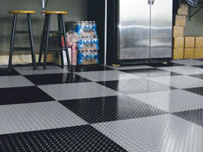 winter product spotlight garage tiles with diamond treads - Garage Tiles
