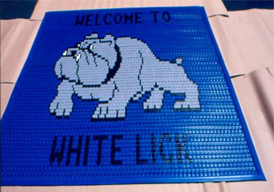 Vinyl Link Recessed Logo Floor Mat 2