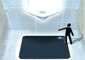 Disposable Urinal Mat: With Time Gauge