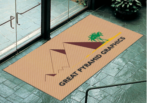 Pyramid Rubber Logo Mat