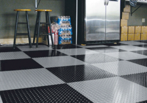 Diamond Tread Garage Tiles
