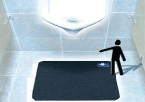 Disposable Urinal Mat: With Time Gauge
