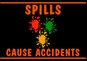 Spills Cause Accidents